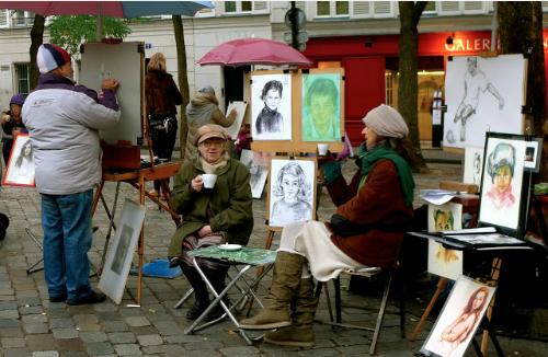 bỏ túi những thành phố lớn với dịch vụ ký họa chân dung đường phố