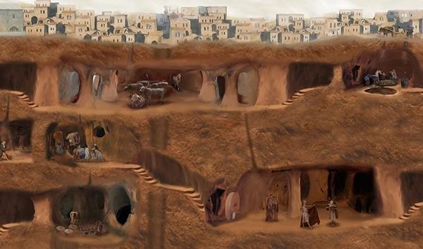 Kinh ngạc thành phố dưới mặt đất của thổ nhĩ kỳ