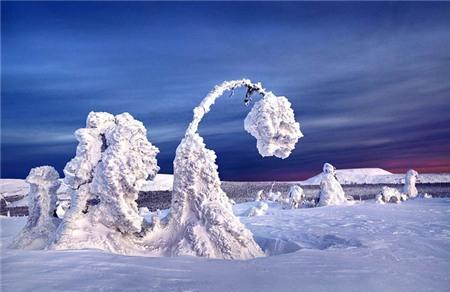Loạt ảnh mùa đông băng giá trên đất nước nga
