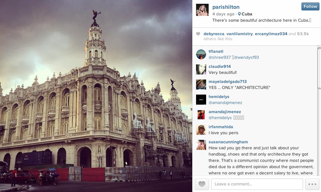 Paris hilton có thể phá hoại du lịch cuba