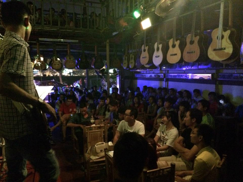 Những quán cà phê nhạc sống tối cuối tuần ở hà nội