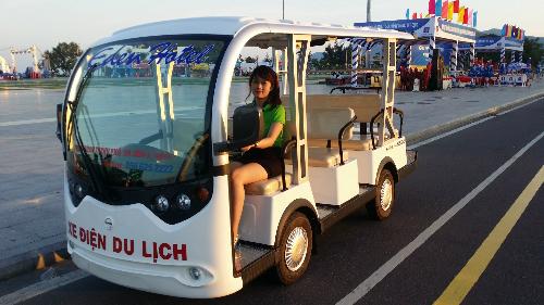 Xe điện phục vụ city tour ở quy nhơn