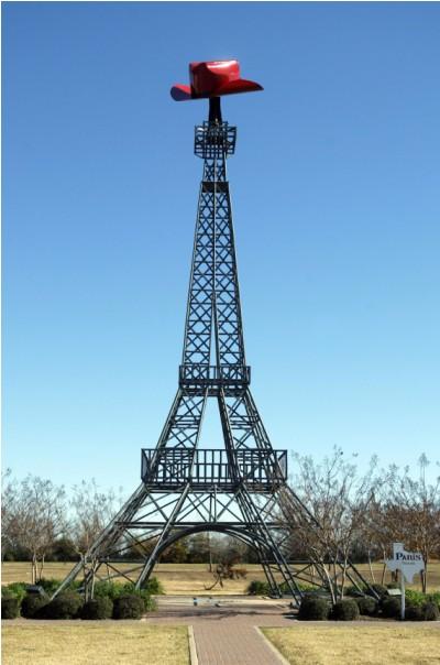 9 bản sao của tháp eiffel