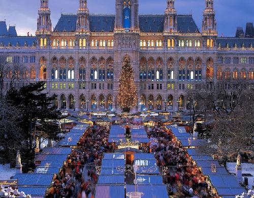 Chợ giáng sinh ở trời âu