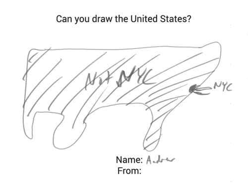Bản đồ nước mỹ qua nét vẽ của dân bản địa