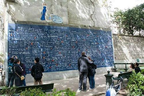 Bức tường i love you ở paris