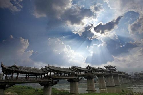 Feng yu cầu gỗ có mái dài nhất châu á