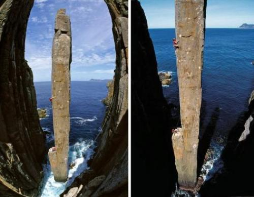 Cột đá totem pole thử thách của các nhà leo núi
