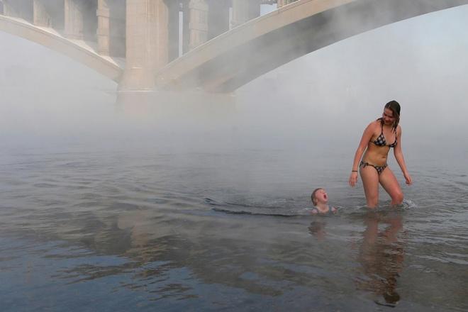Câu lạc bộ những người thích tắm trong giá rét - 30 độ c
