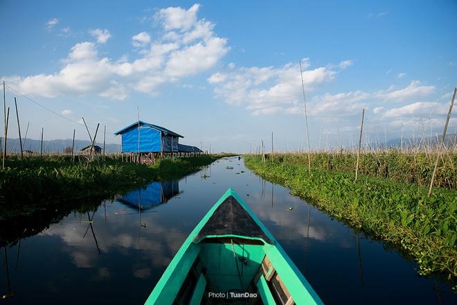 Hồ inle - nơi đánh cá bằng chân và trồng cây trên nước