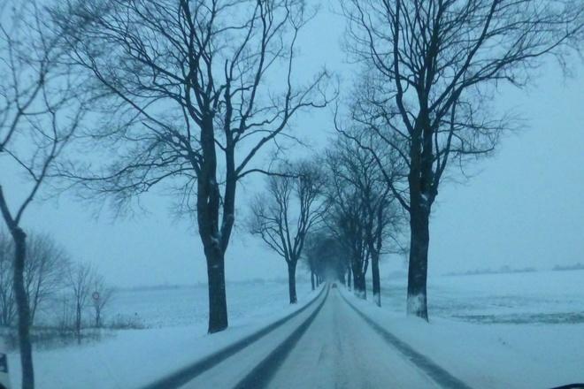 Tuyết trắng bao phủ nước đức