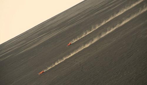 Đường đua mạo hiểm trên sườn núi lửa ở nicaragua