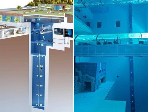 Italy xây bể bơi sâu nhất thế giới