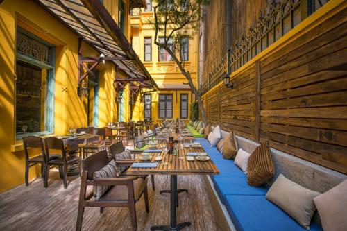 Kiến trúc vintage ở nhà hàng cổ hà nội