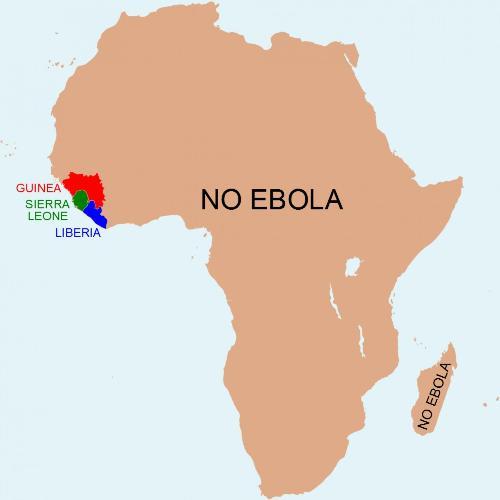 Những vùng không ebola ở châu phi