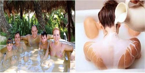 Dịch vụ tắm bùn sữa tại asean resort