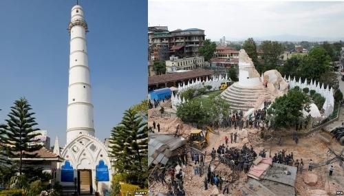 Các di tích của nepal trước và sau động đất