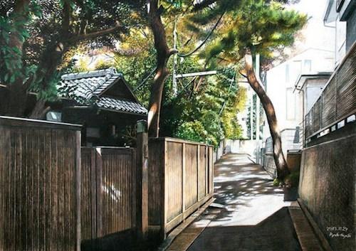 Ngắm tokyo qua nét vẽ siêu thực bằng chì màu