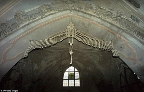 nổi gai ốc với nhà thờ làm từ hàng chục ngàn bộ xương người