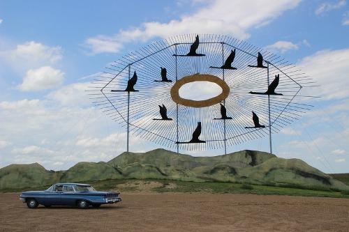 Bộ sưu tập nghệ thuật khổng lồ bên cao tốc mỹ