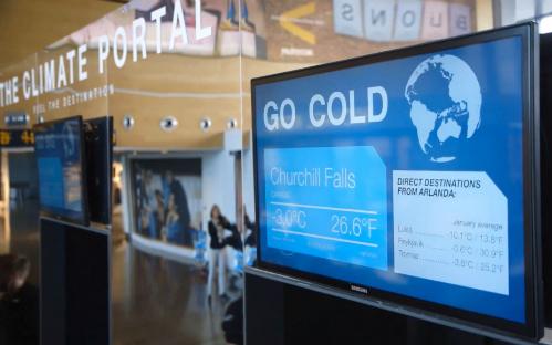 Stockholm trang bị cổng thời tiết ở sân bay