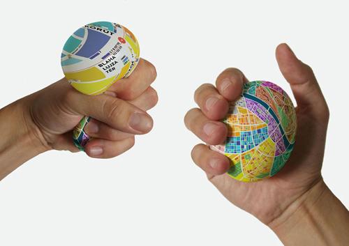Trái bóng bản đồ giúp tra cứu đường đi