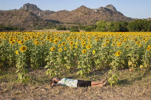 Cô gái đi khắp thế giới chỉ để nằm
