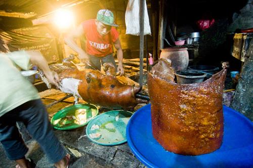 Lợn quay trứ danh ở đất nước không ăn thịt lợn