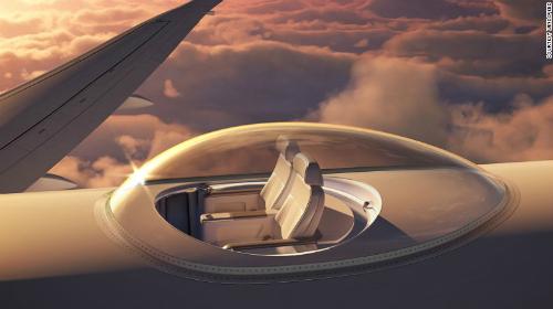 Máy bay lắp ghế trên nóc để du khách ngắm cảnh