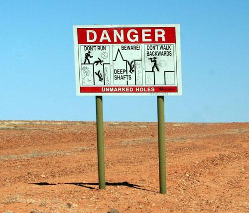 Thị trấn không cẩn thận là ngã xuống mỏ vàng