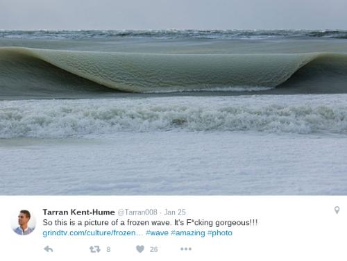 Ngọn sóng bị đóng băng đăc sêt như kem