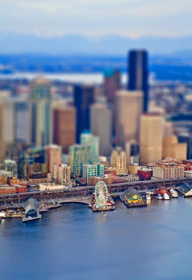 Seattle kỳ ảo nhìn từ thủy phi cơ