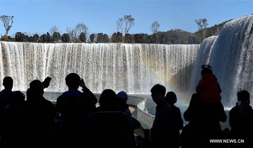 Thác nước nhân tạo lớn nhất châu á khai trương ở trung quốc